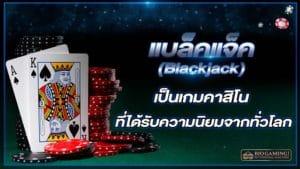 แบล็คแจ็ค (Blackjack) เป็นเกมคาสิโนที่ได้รับความนิยมจากทั่วโลก biogaming1